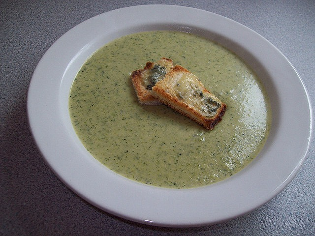 s-broccoli stilton soup
