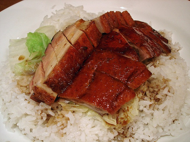 s-roast duck rice